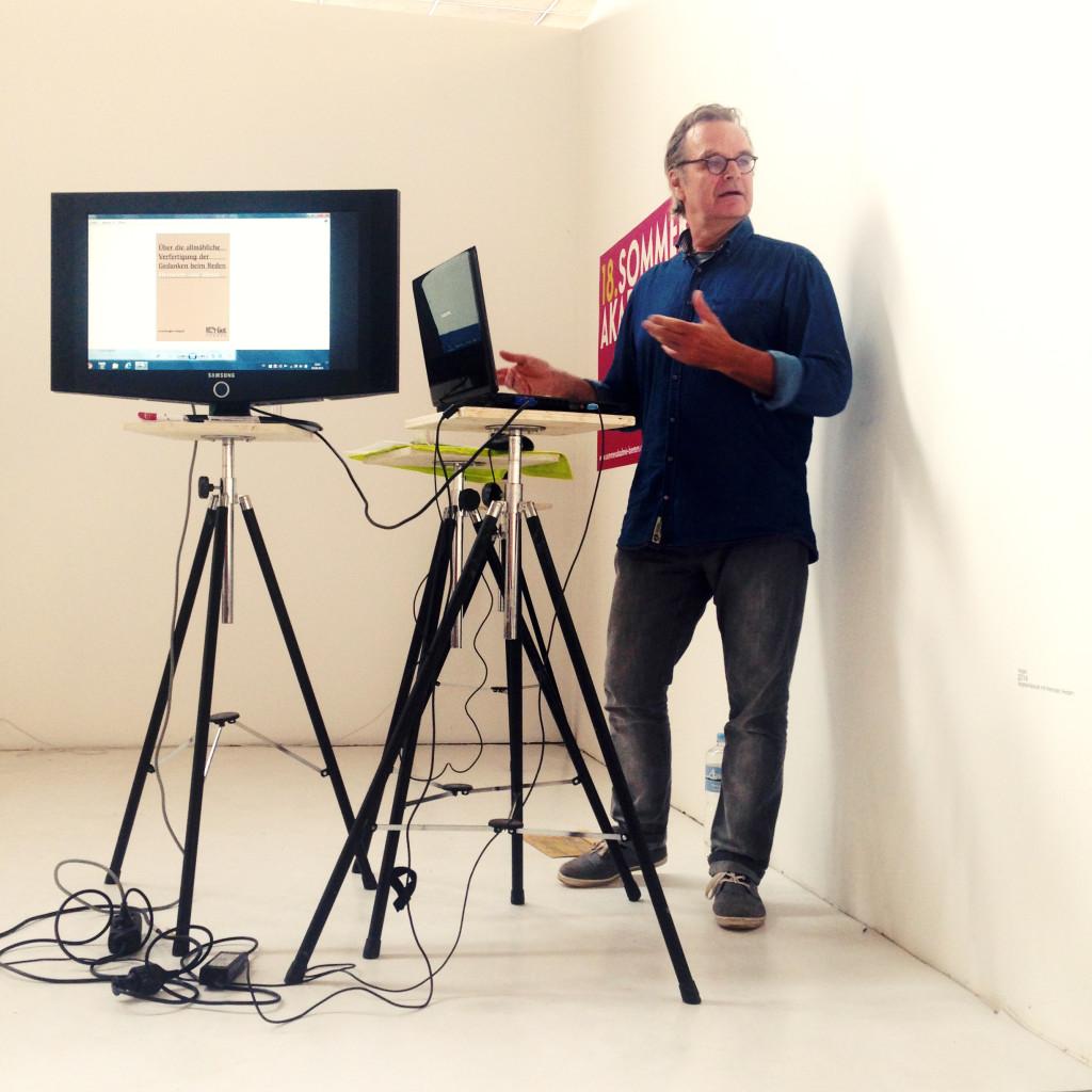 """INPUT/ VORTRAG """"Bilder sind Handlungen - über performative Strategien in der Kunst"""" Prof. Hermanus Westendorp"""